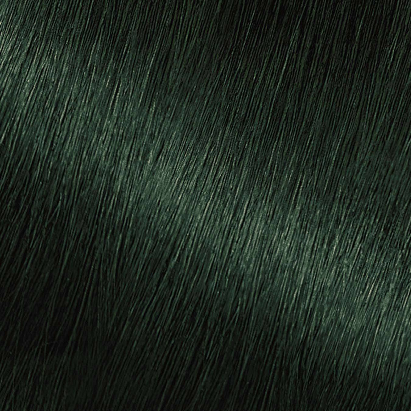 Hair Swatch of Nutrisse Ultra Color EM1 Dark Matcha.
