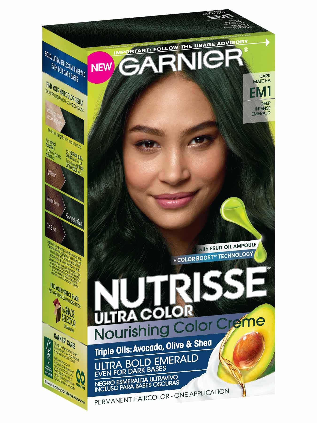 Nutrisse Ultra Color Ultra Bold Emerald Hair Color Garnier
