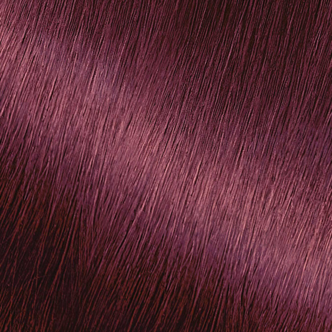 Hair Swatch of Nutrisse Ultra Color M2 Sweet Grenadine.