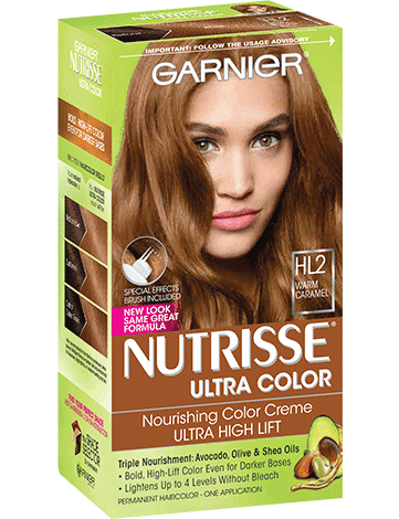 Garnier Nutrisse Nourishing Color Creme HL2 - Warm Caramel Permanent Hair Color