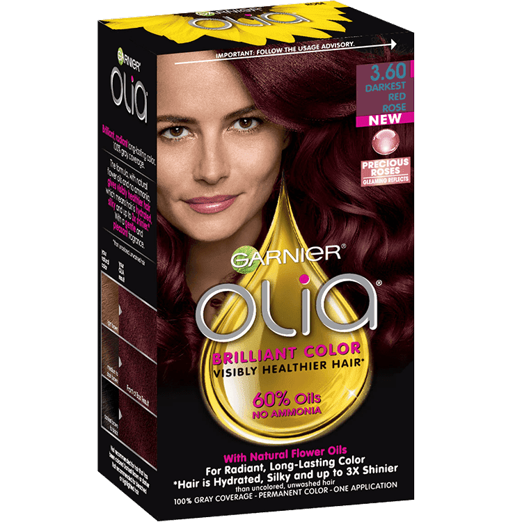 Garnier Olia 3.60 - Darkest Red Rose - Oil Powered Permanent Hair Color