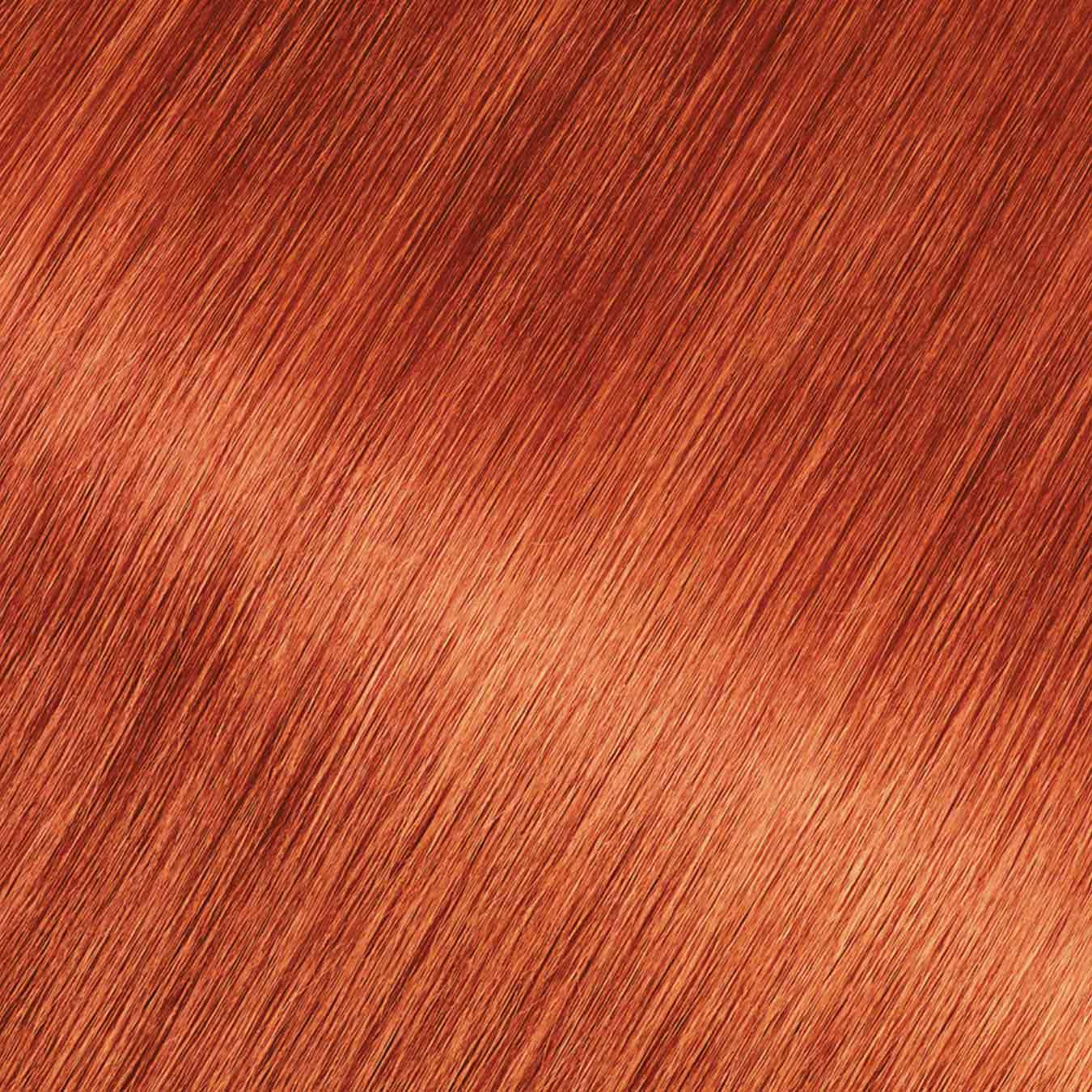 Hair Swatch of Olia Bold 7.45 - Intense Fire Ruby.