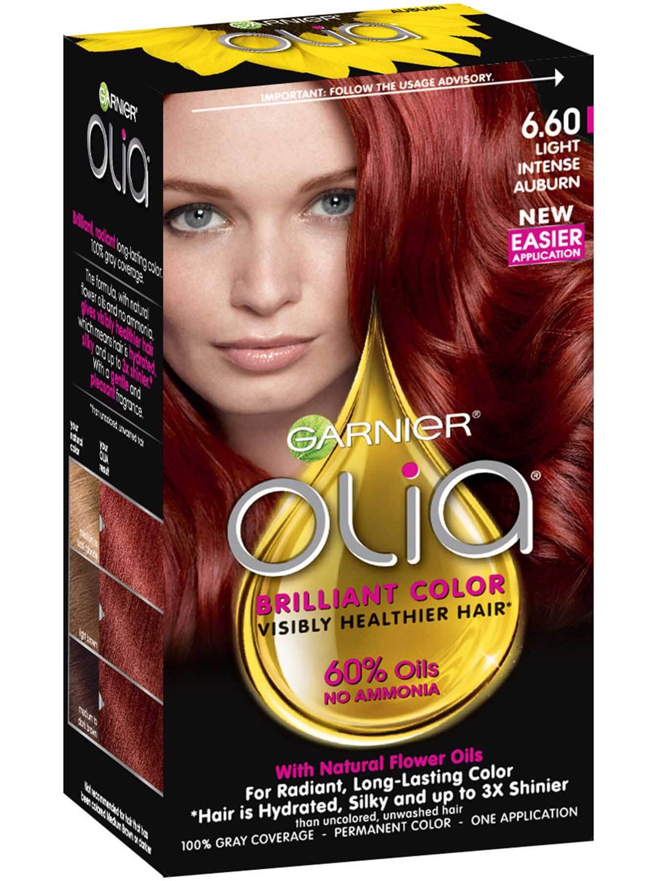 Permanent Semi Permanent Temporary Auburn Hair Color Garnier