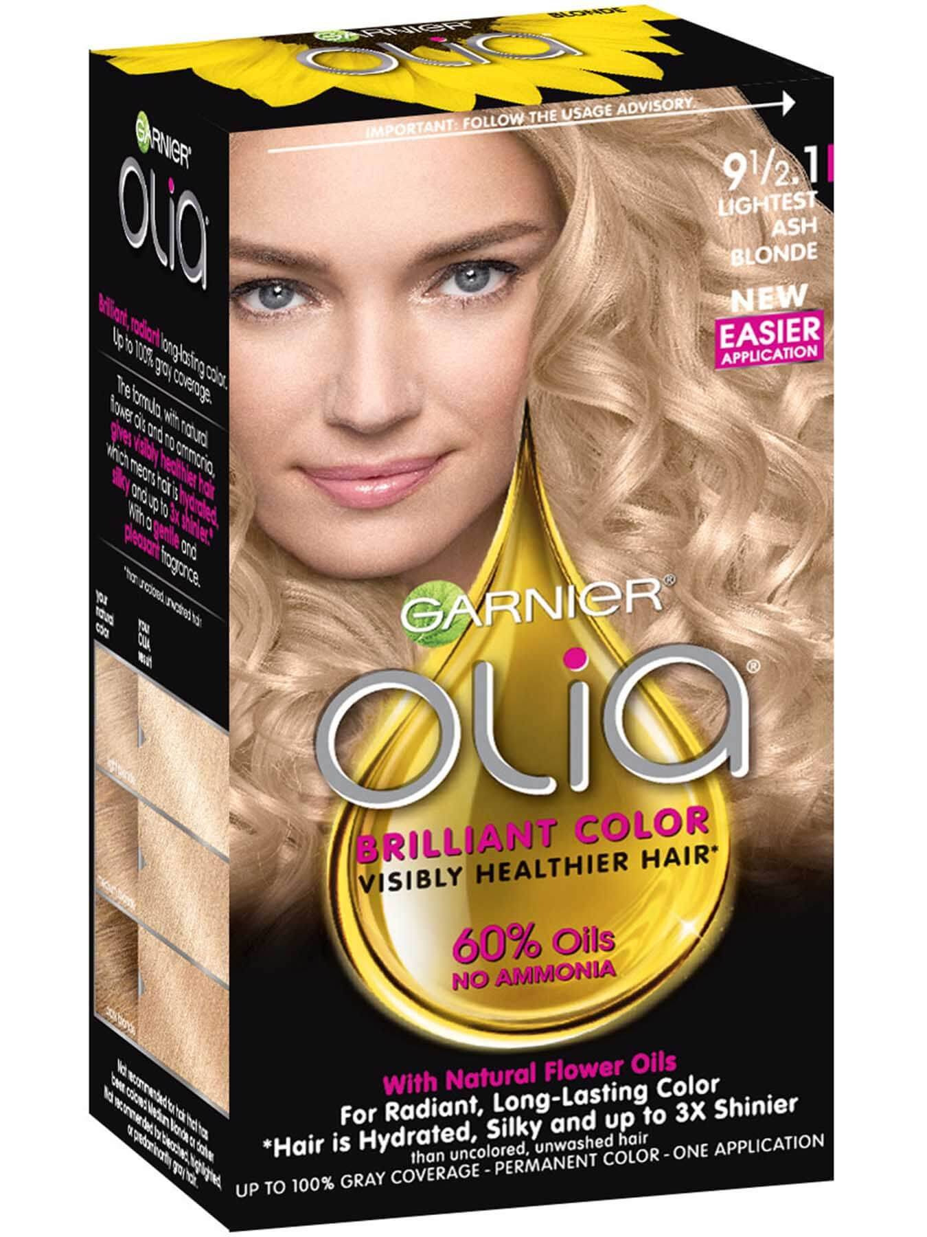Olia Ammonia Free Lightest Cool Blonde Hair Color Garnier