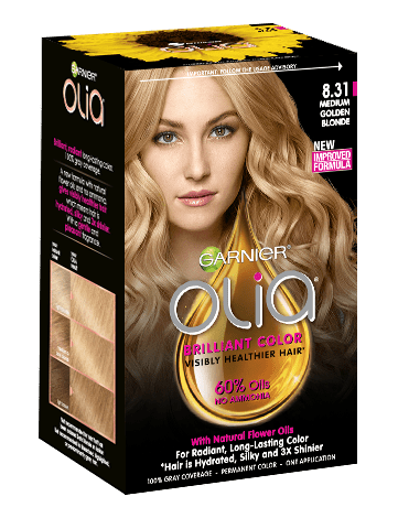 Garnier Olia 8.31 - Medium Golden Blonde - Powered Permanent Hair Color