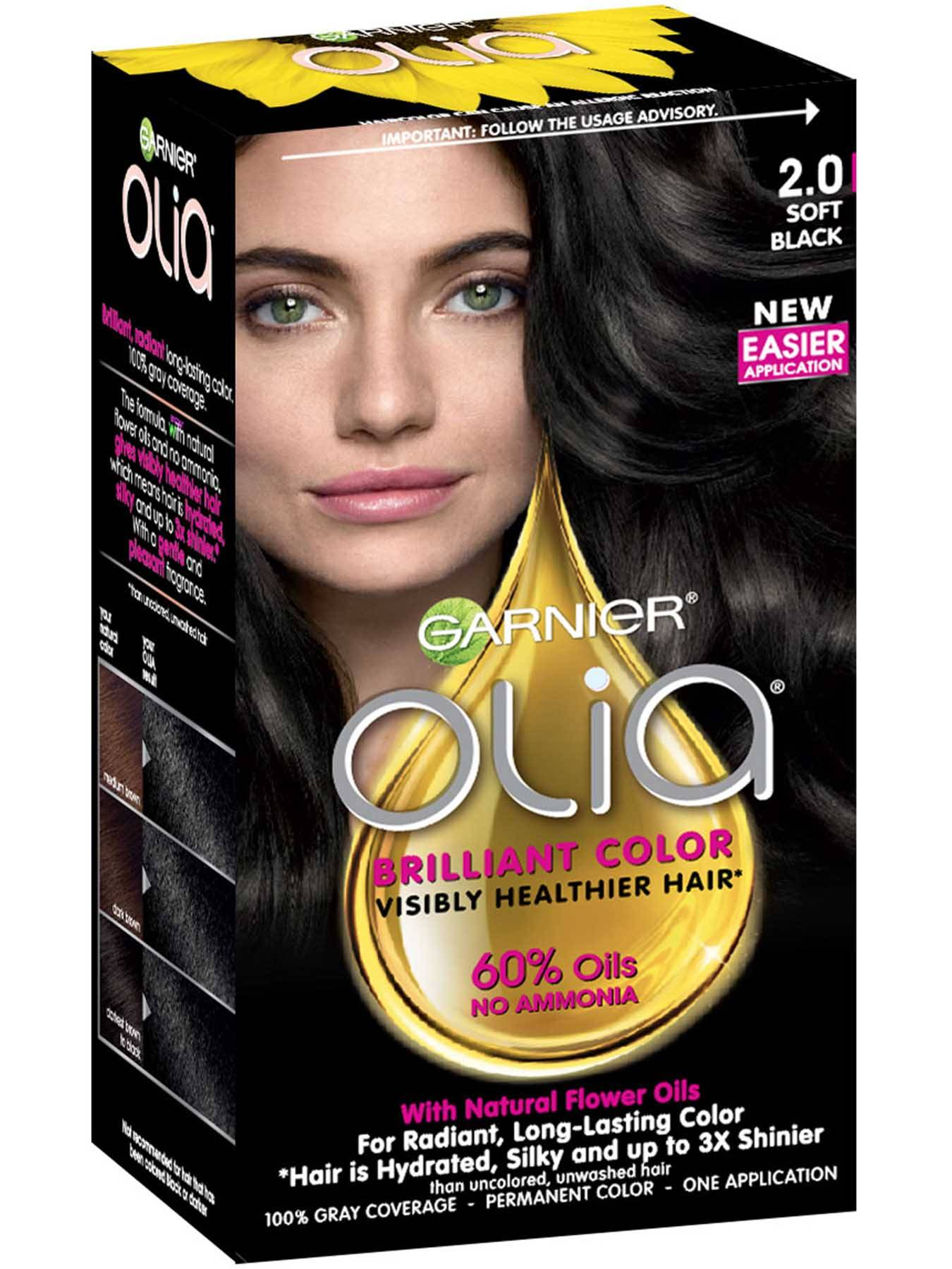 Garnier Olia 2.0 - Soft Black - Powered Permanent Hair Color