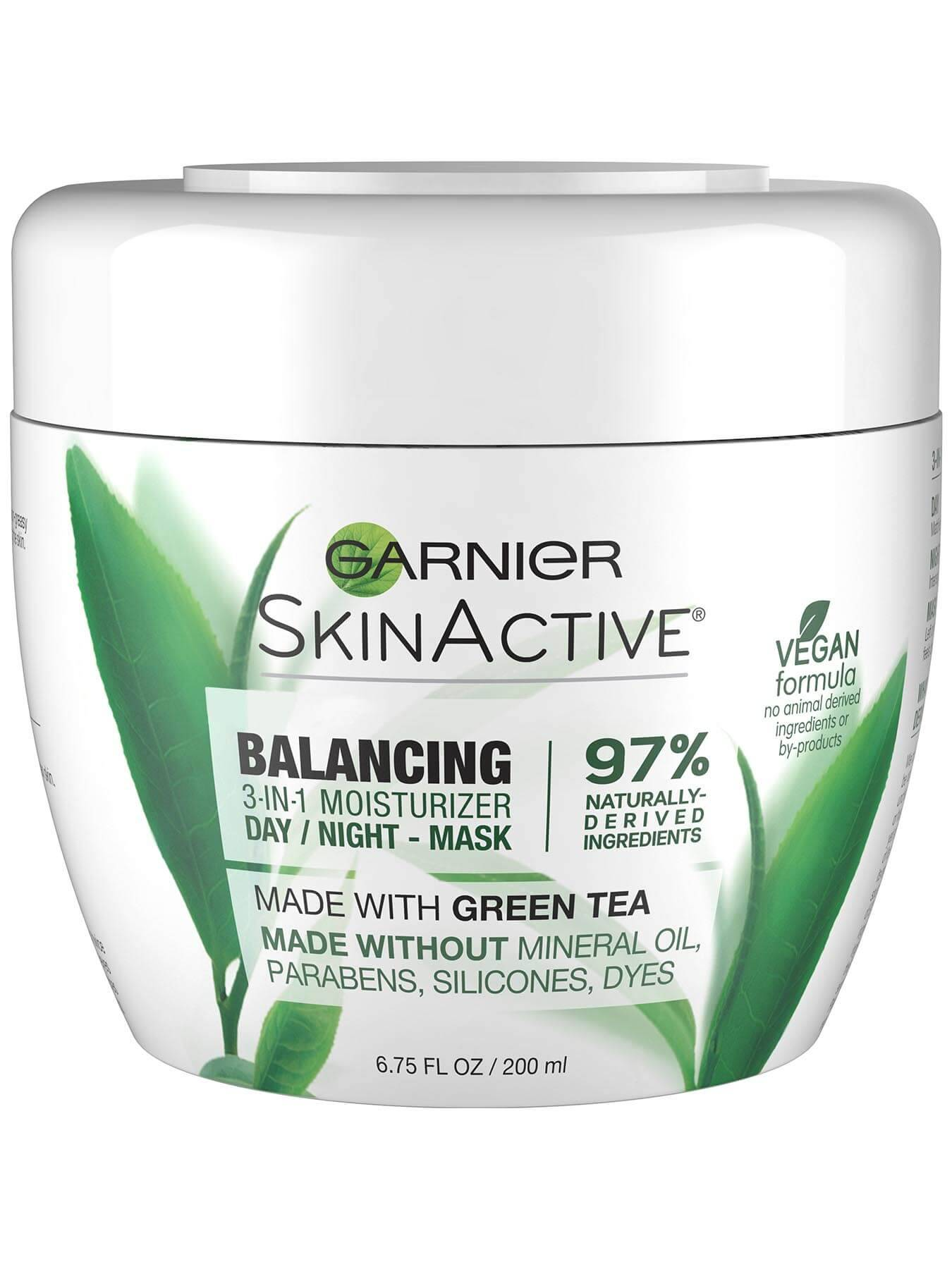 Garnier SkinActive Balancing 3-in-1 Face Moisturizer with Green Tea - 3-in-1 Moisturizer- Day, Night, Mask