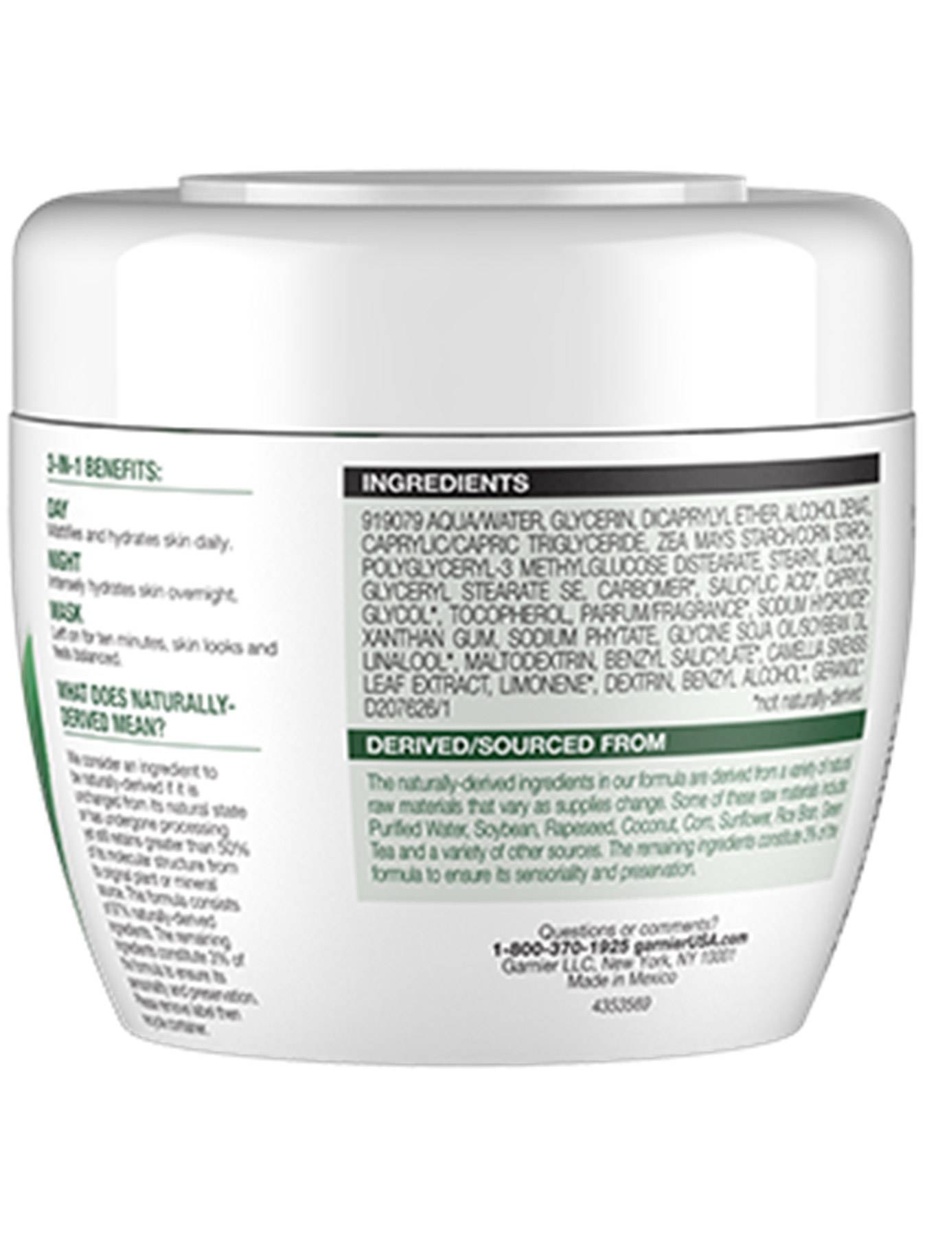 Garnier SkinActive Balancing 3-in-1 Face Moisturizer with Green Tea - 3-in-1 Moisturizer Mask