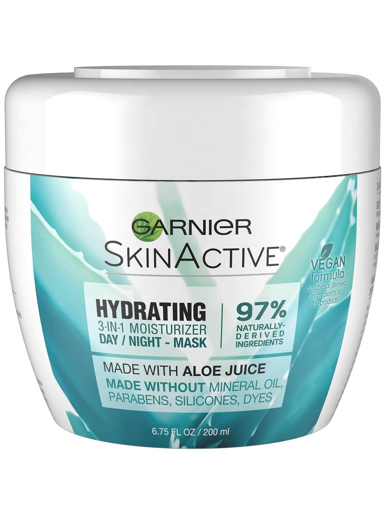 Garnier SkinActive Hydrating 3-in-1 Face Moisturizer with Aloe - 3-in-1 Face Moisturizer- Day, Night, Mask