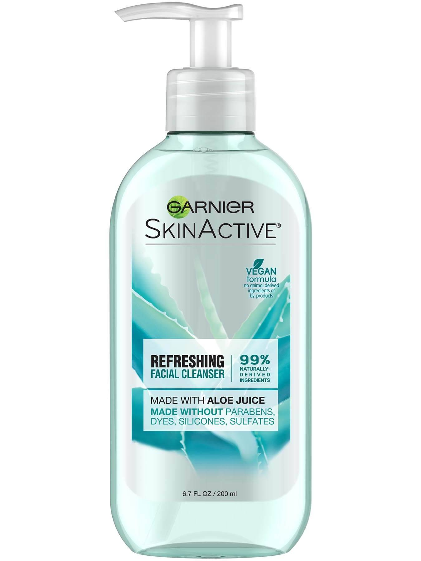Garnier SkinActive Refreshing Facial Wash with Aloe - Removes excess sebum, impurities, and pollution for clean skin that feels fresh