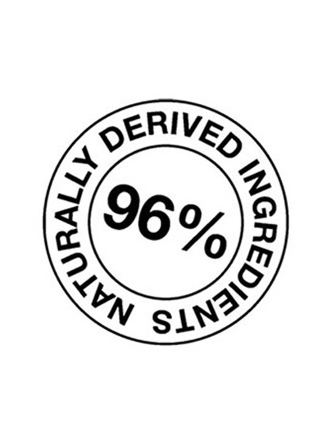 96% Naturally Derived Ingredients badge.