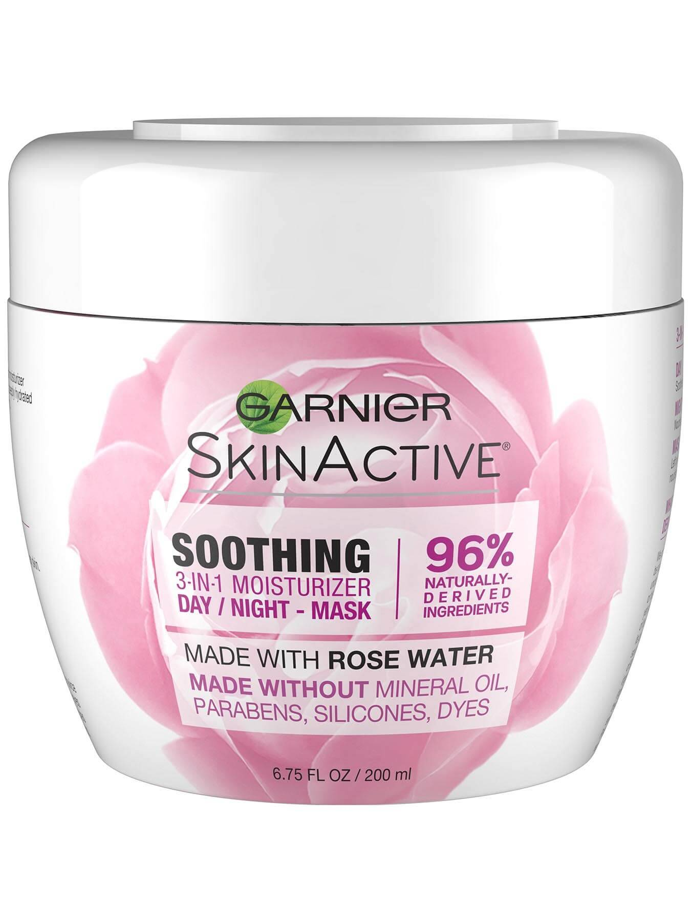 Front view of Soothing 3-in-1 Face Moisturizer with Rose Water.