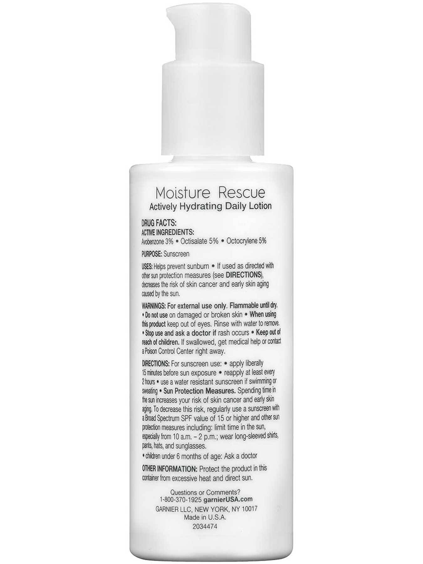 Moisture Rescue Broad Spectrum SPF 15, Fragrance Free, Actively Hydrating Daily Lotion.
