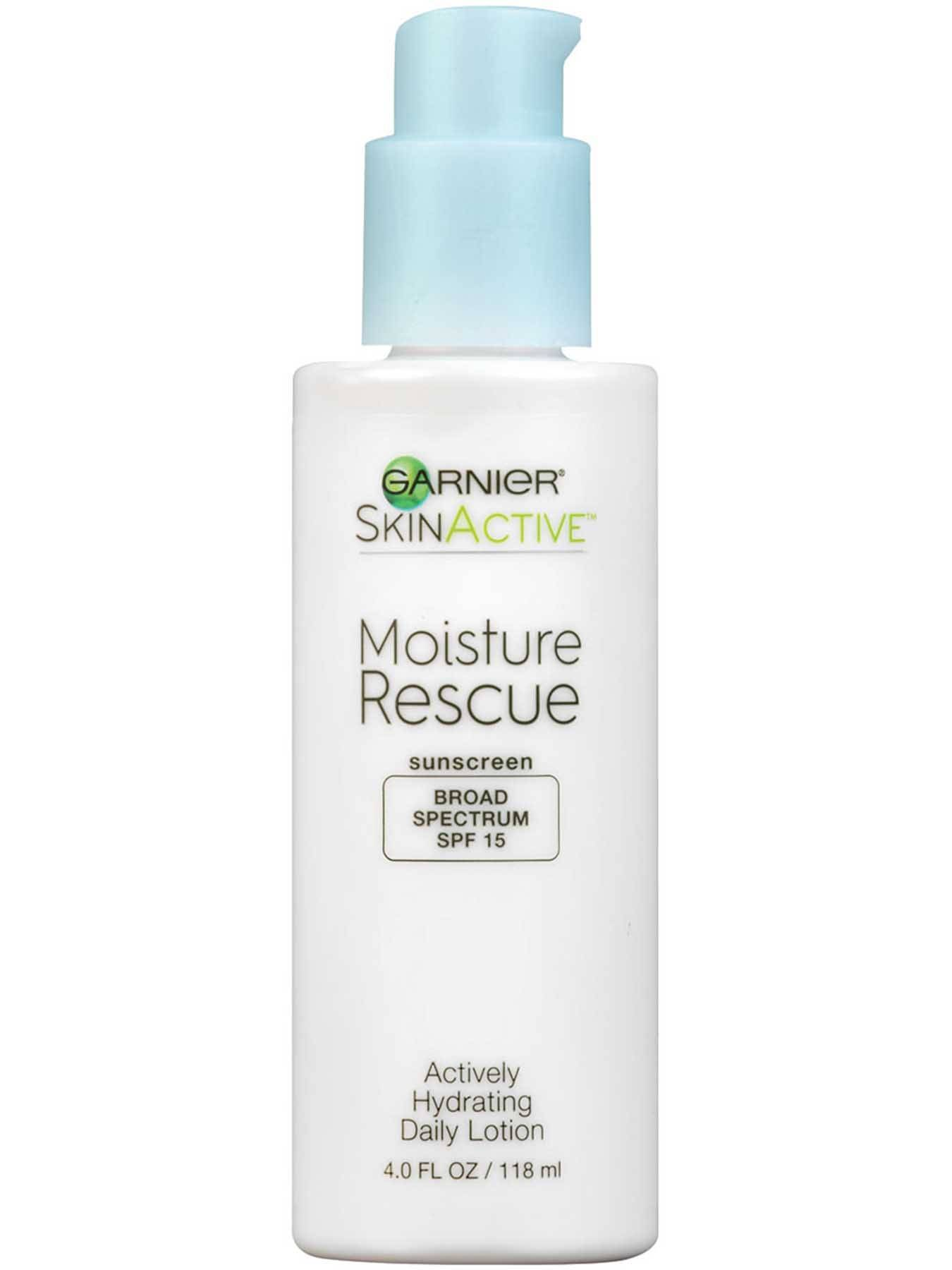 Front view of Moisture Rescue Broad Spectrum SPF 15, Actively Hydrating Daily Lotion.