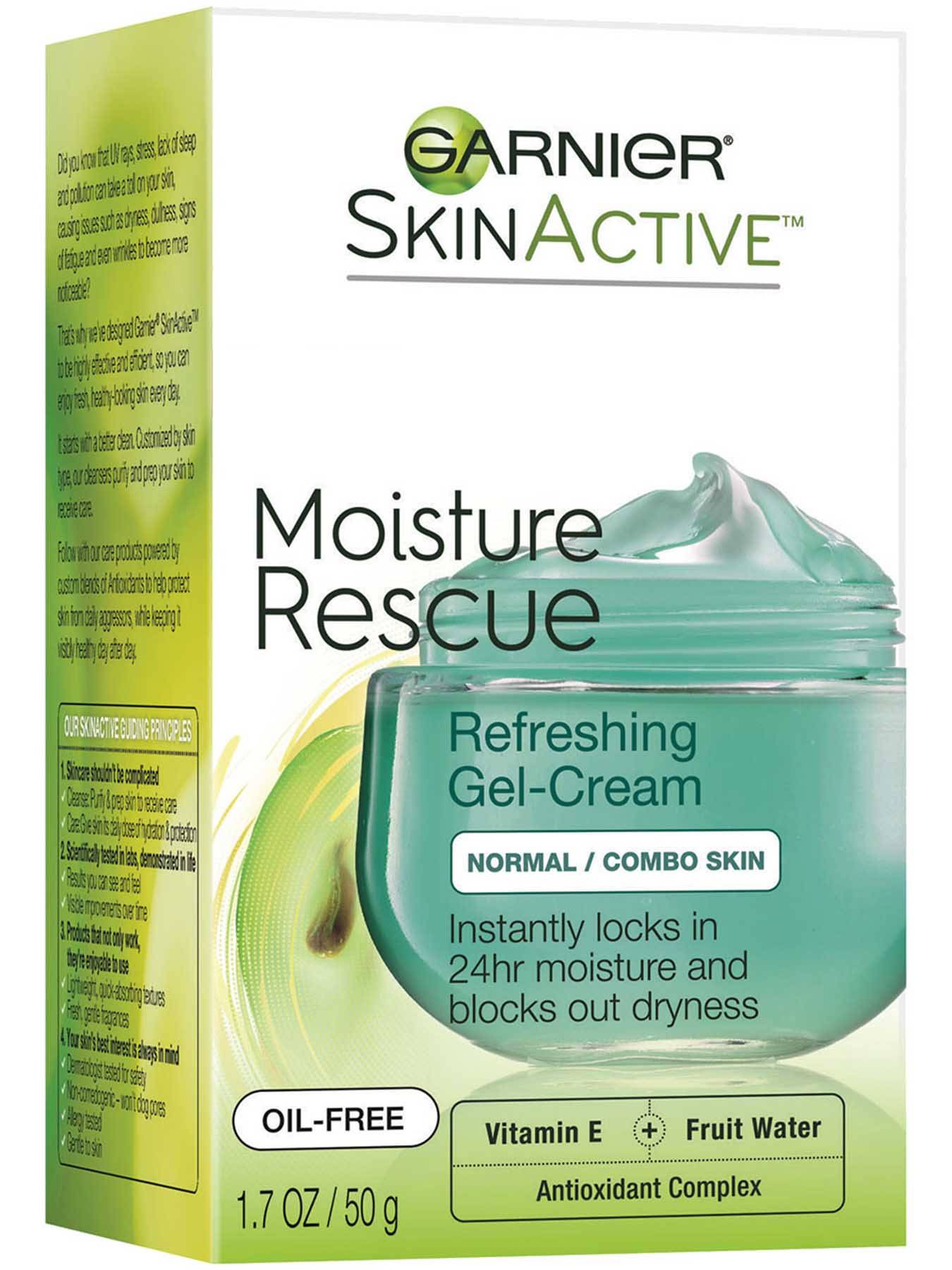 Right Side view of Moisture Rescue Refreshing Gel Cream, Normal and Combo Skin.
