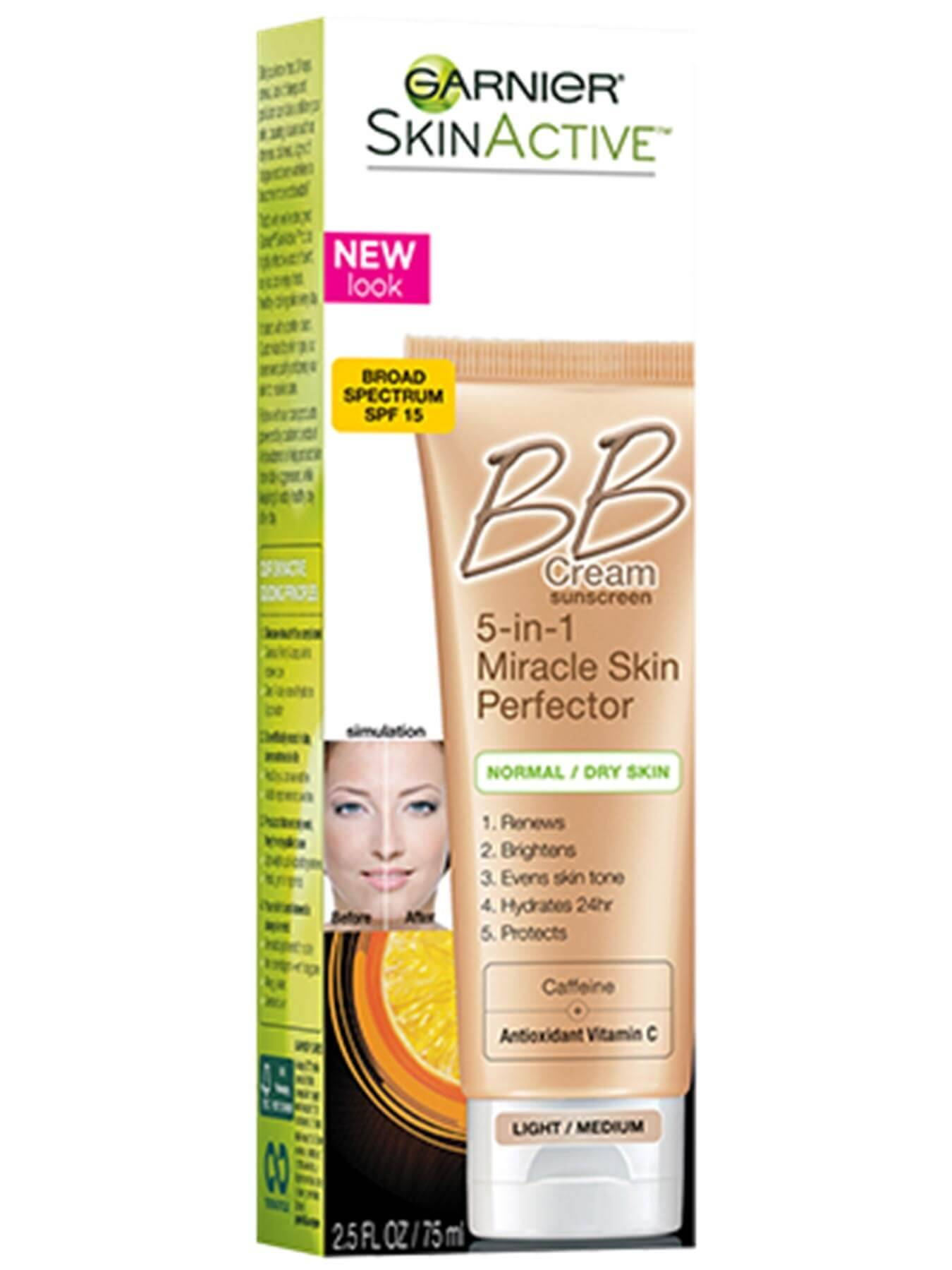 Front view of 5-in-1 Miracle Skin Perfector BB Cream - Light/Medium box.