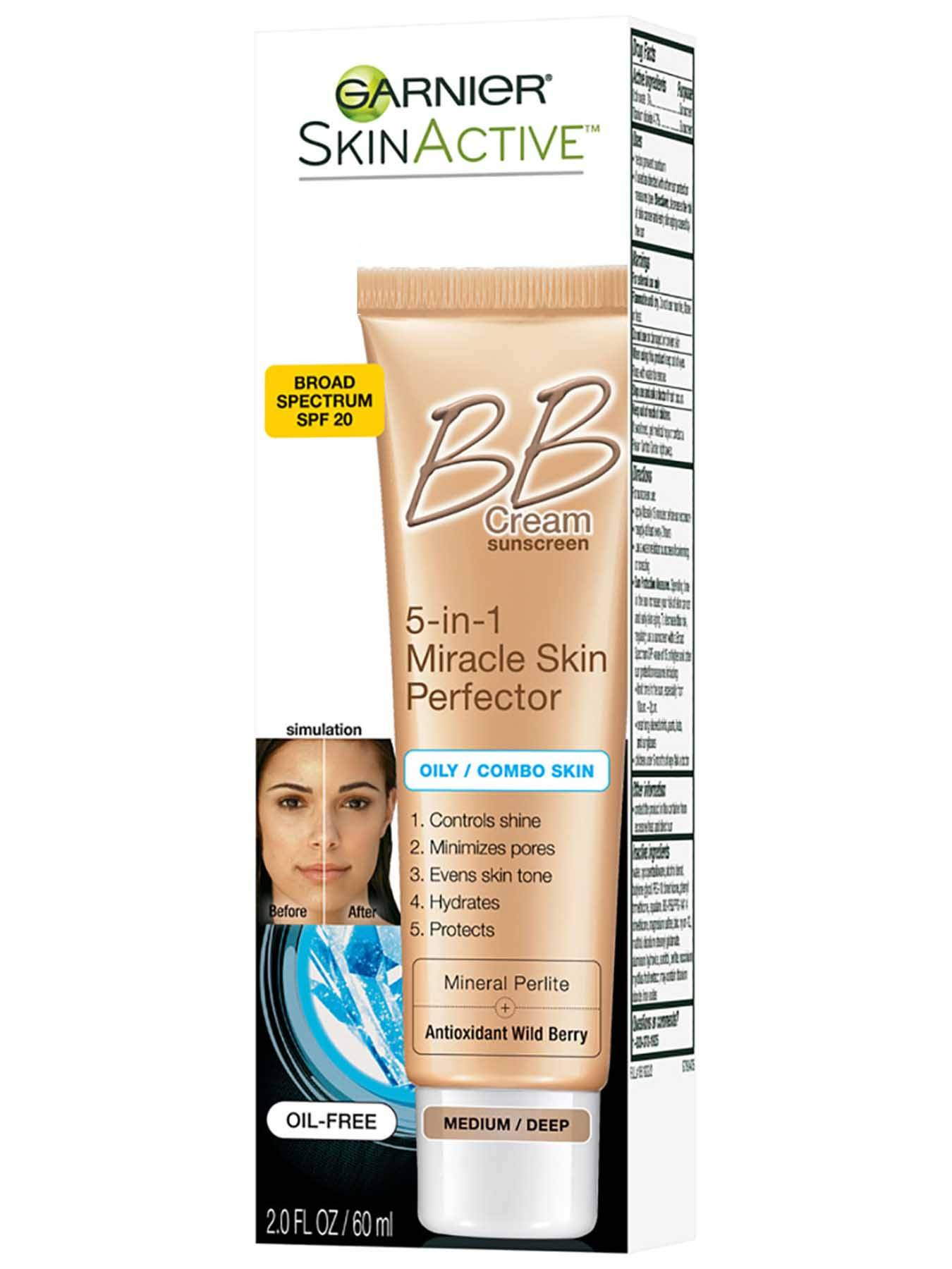 Left Side view of BB Cream 5-in-1 Miracle Skin Perfector, Oily and Combination Skin, Medium.