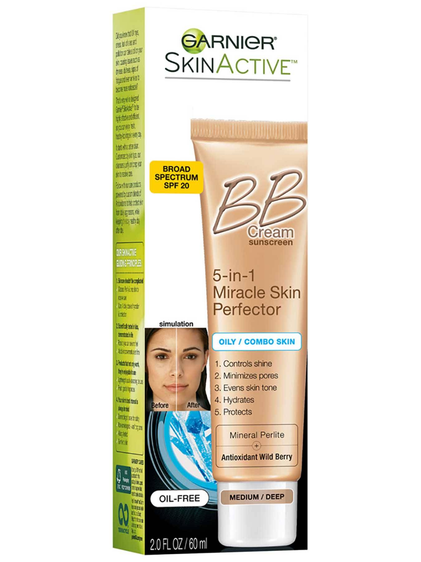 Right Side view of BB Cream 5-in-1 Miracle Skin Perfector, Oily and Combination Skin, Medium.