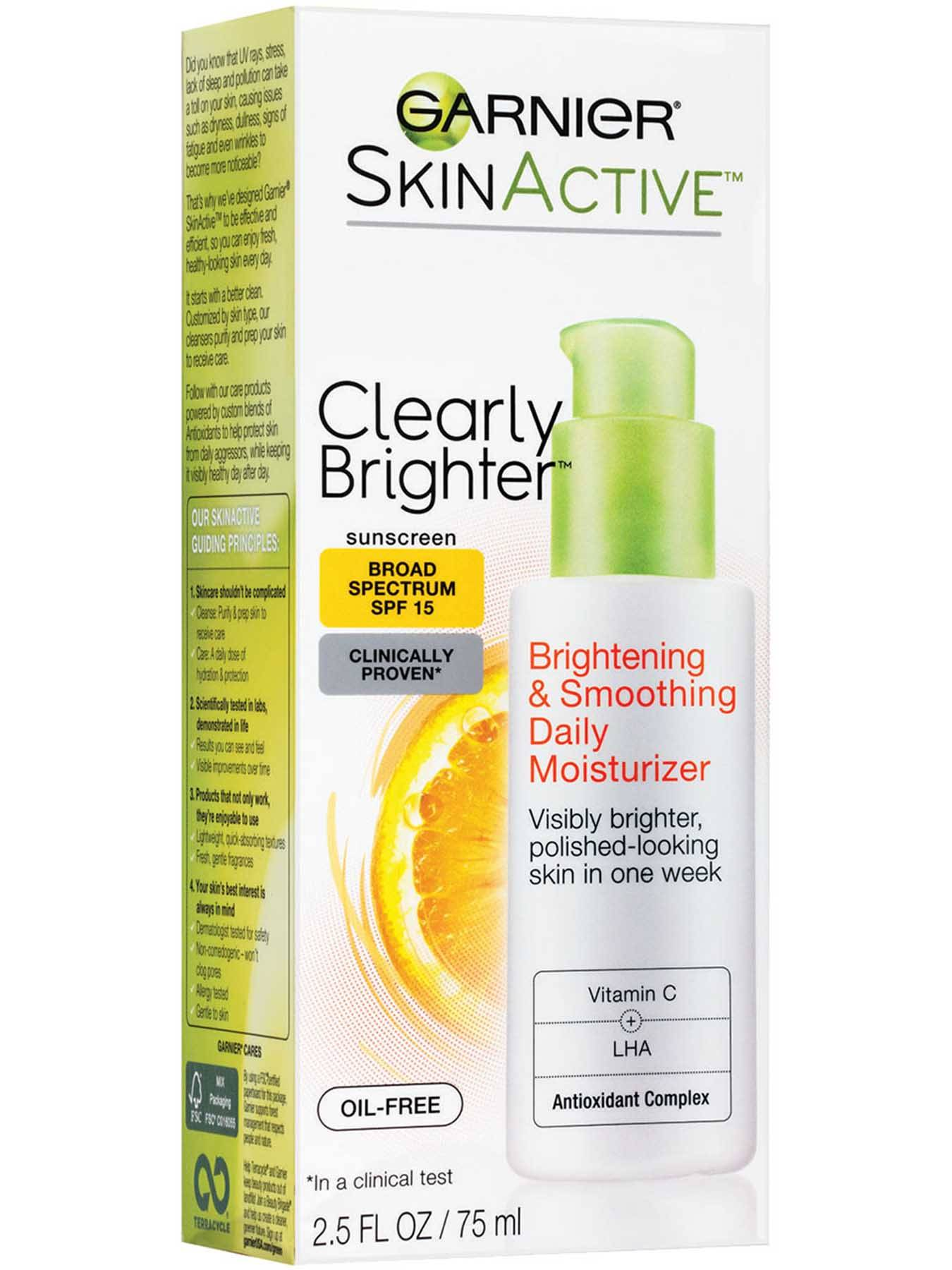 Front view of Clearly Brighter Broad Spectrum SPF 15 Brightening & Smoothing Daily Moisturizer.