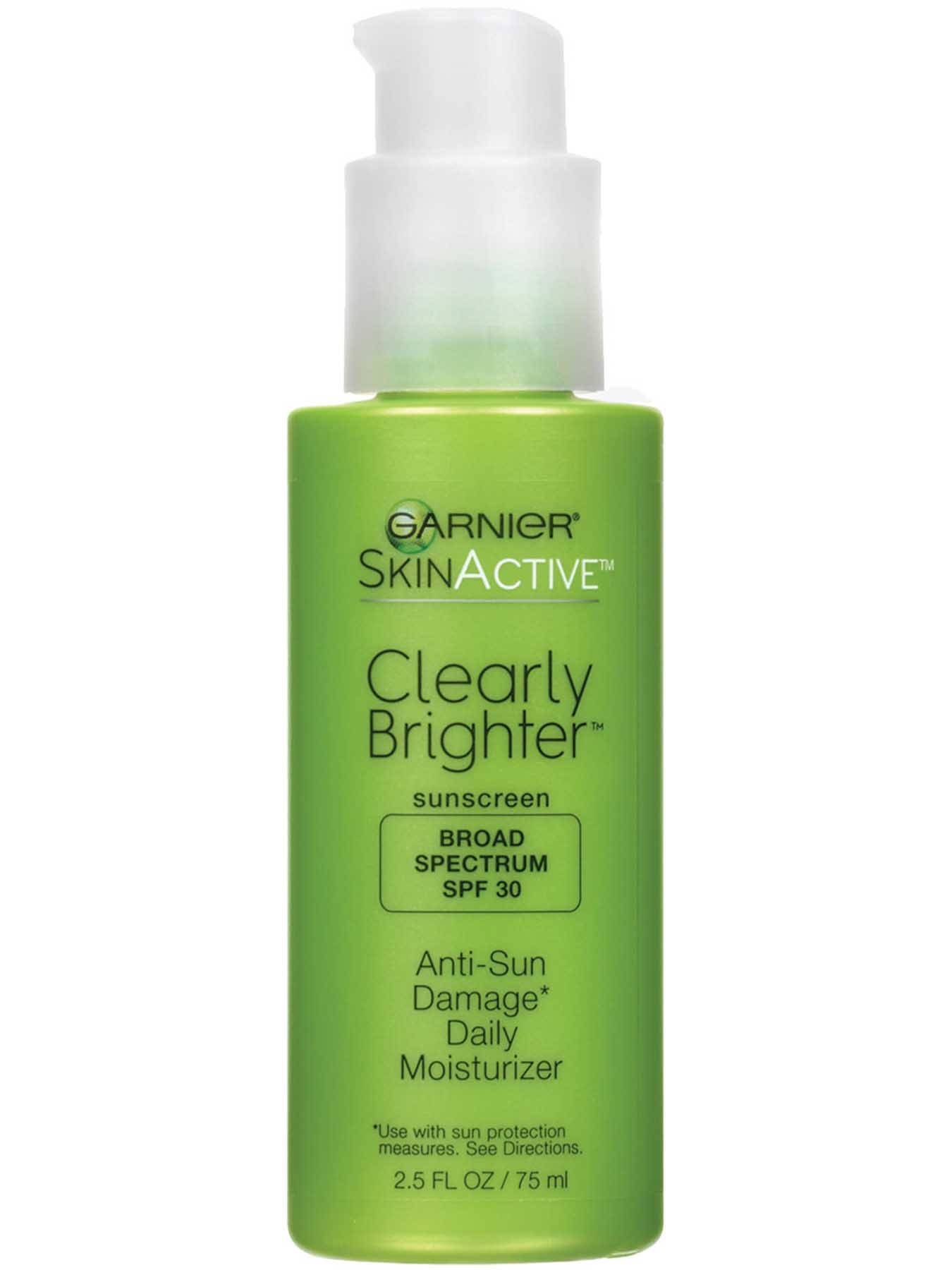 Front view of Clearly Brighter Broad Spectrum SPF 30 Anti-Sun Damage Daily Moisturizer.