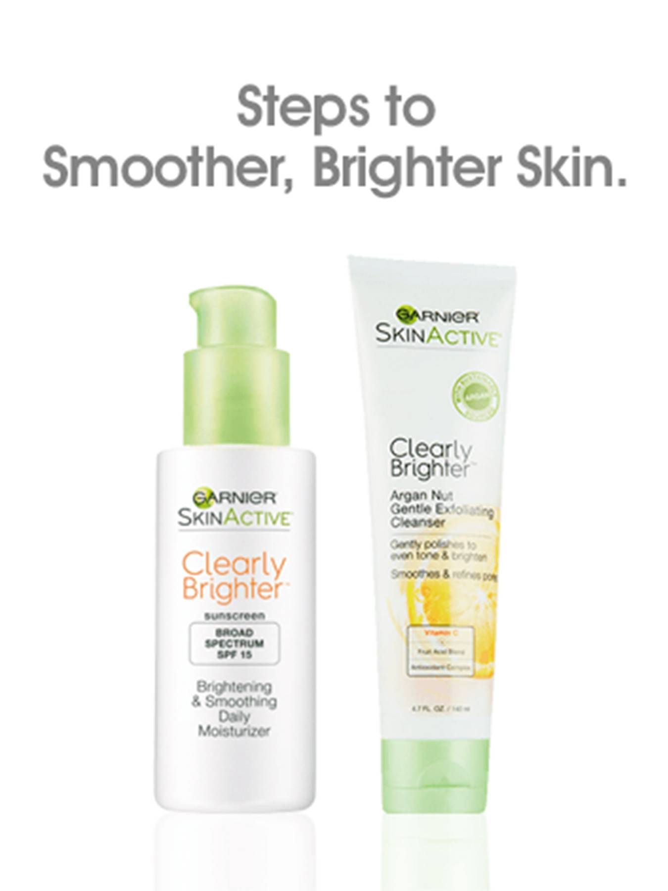 Garnier SkinActive Clearly Brighter Argan Nut Gentle Exfoliating Cleanser - Skin Care  Product for smoother, more radiant skin - protects with spf 15
