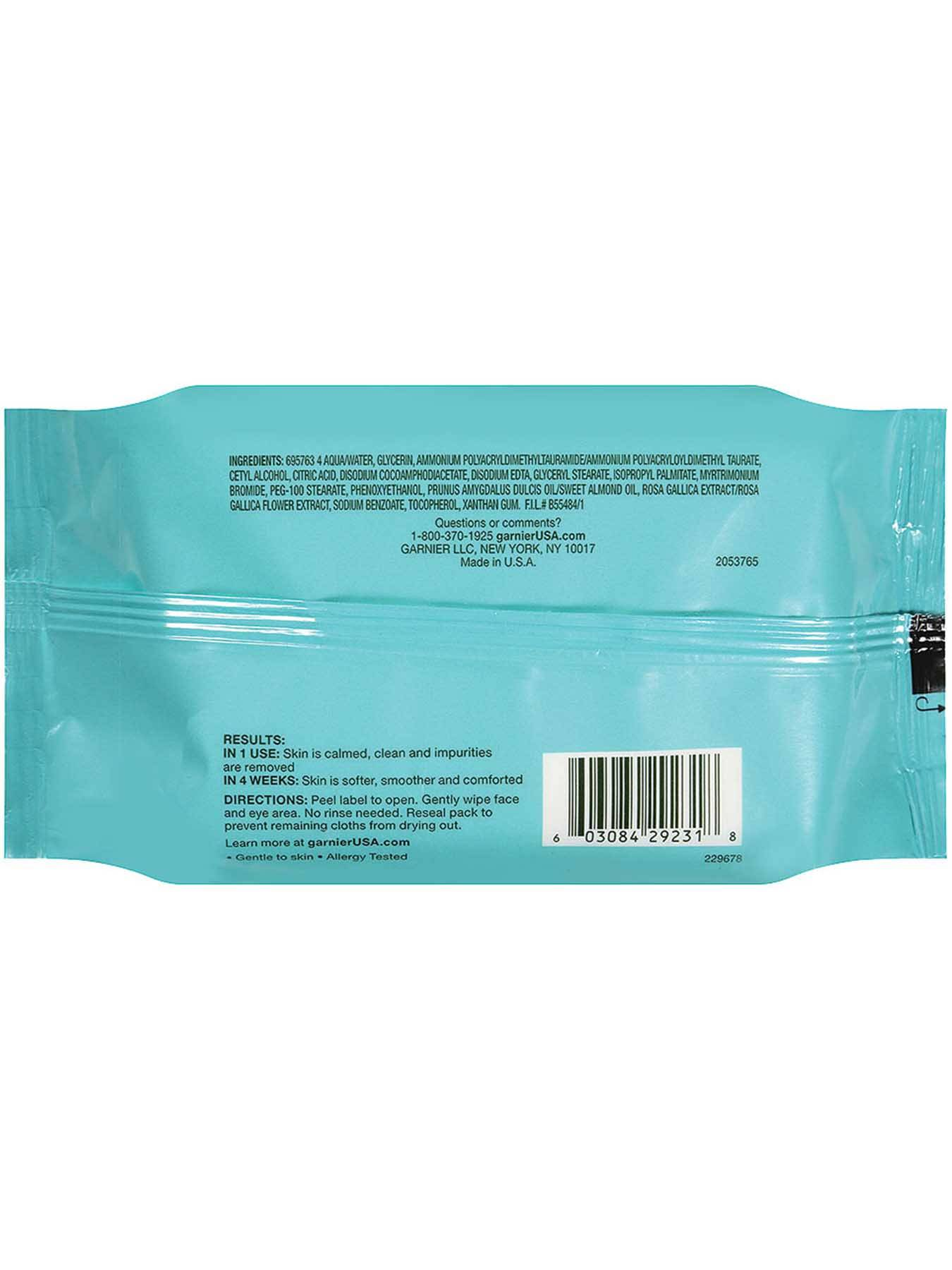 Back view of Clean+ Soothing Makeup Removing Cleansing Towelette for Sensitive Skin.