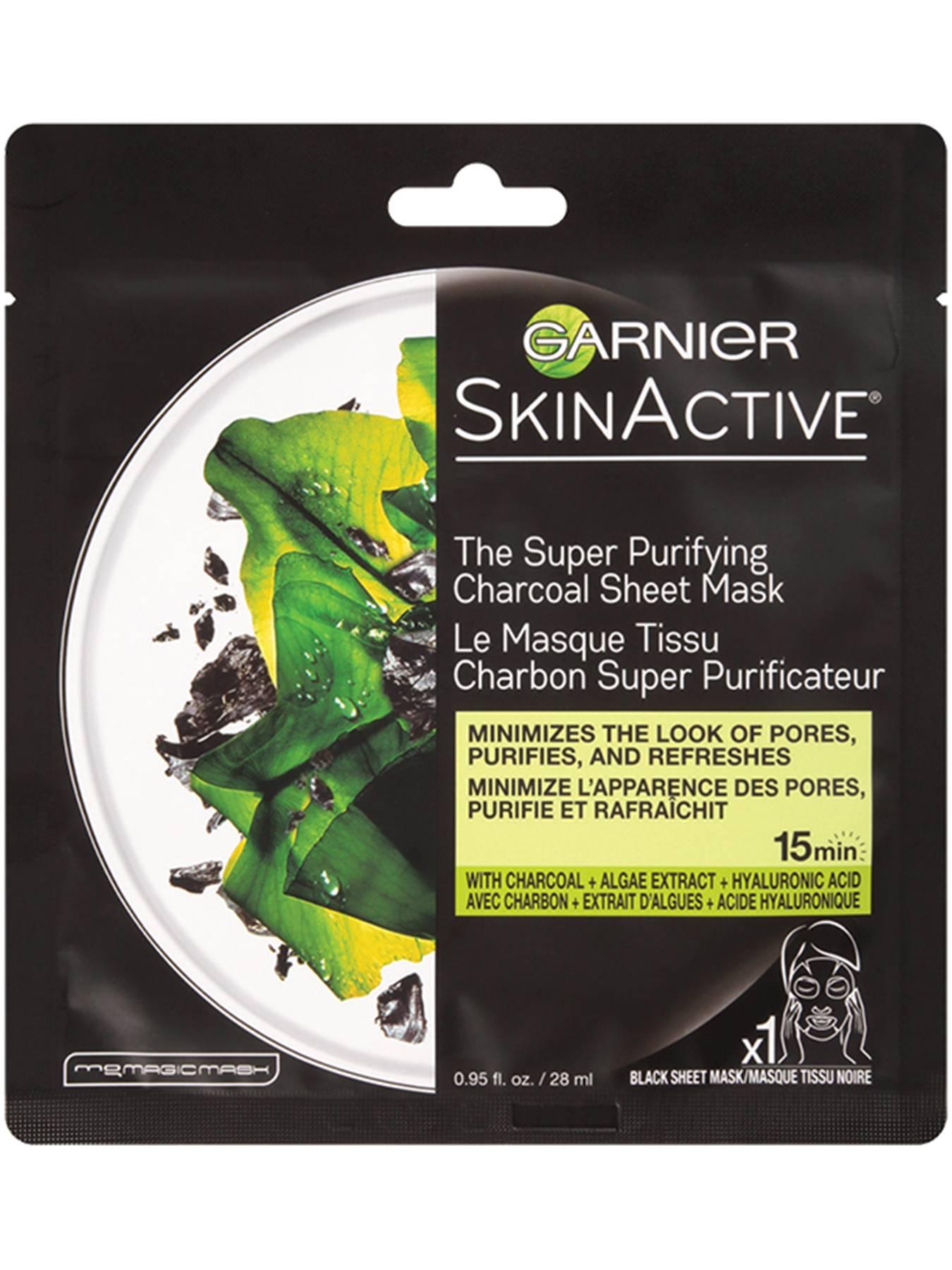 Super Purifying Charcoal Sheet Face Mask Garnier Skinactive