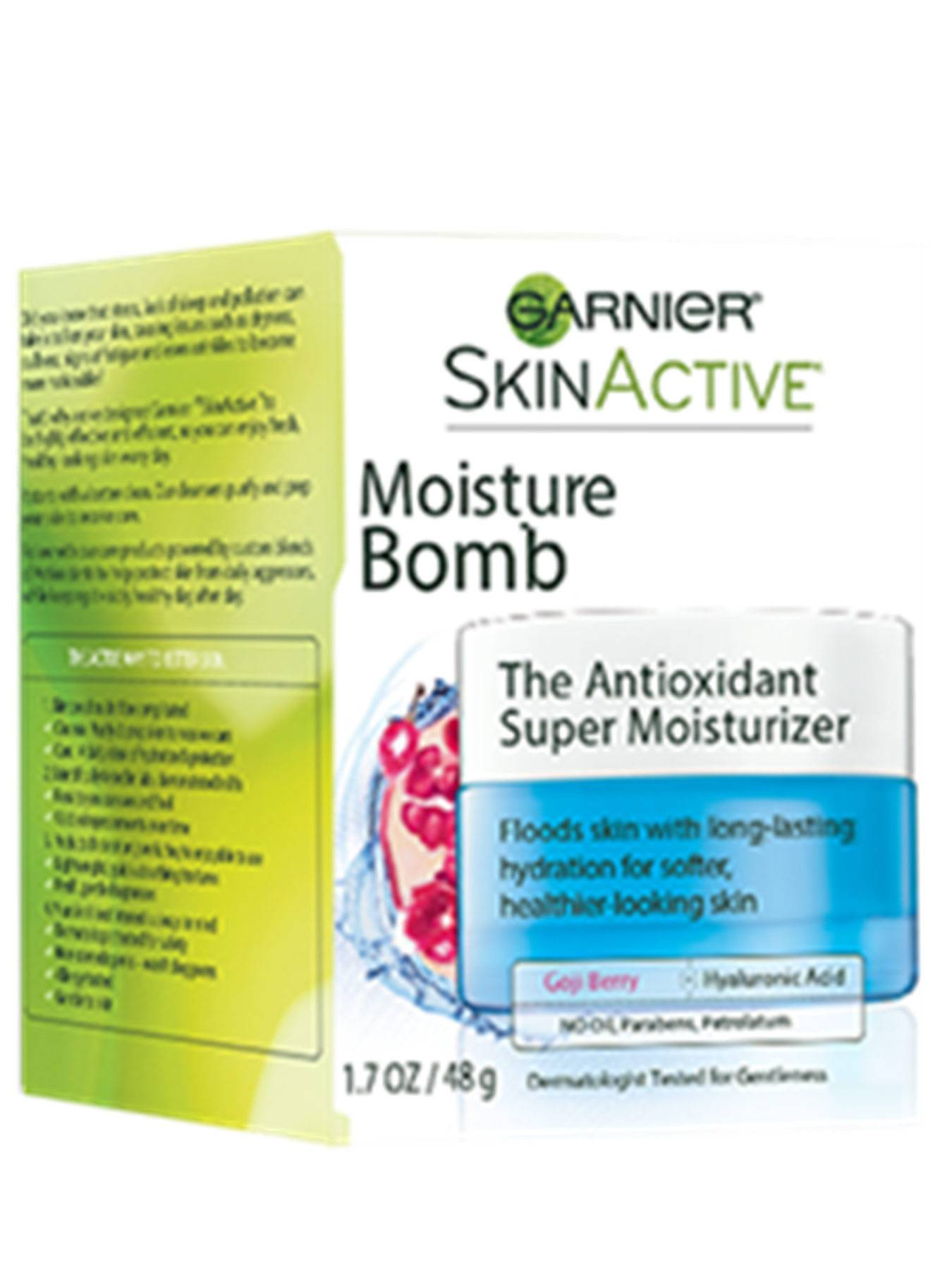 Front view of Moisture Bomb The Antioxidant Super Moisturizer box.
