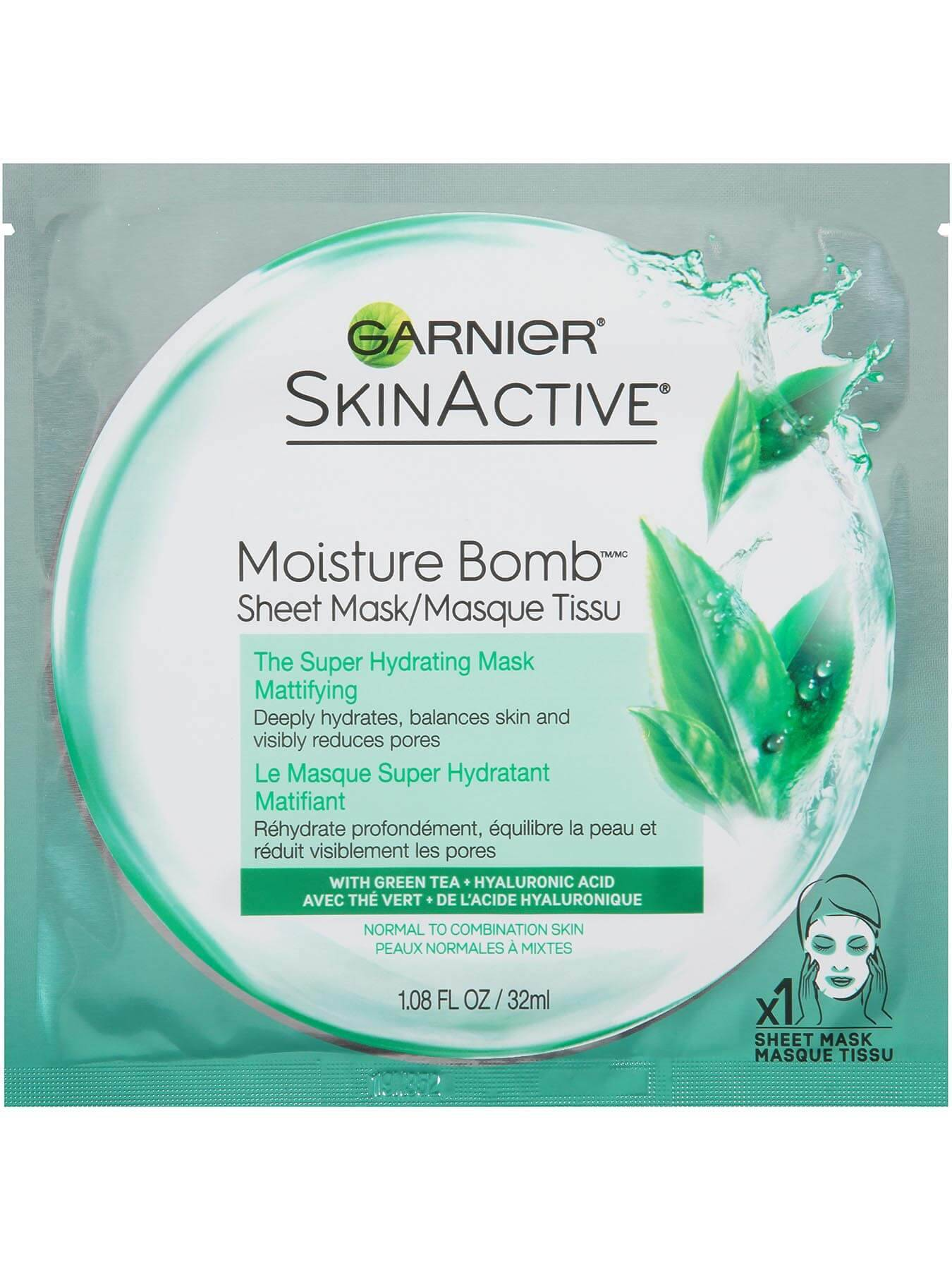 Garnier SkinActive Moisture Bomb The Super Hydrating Sheet Mask - Skin Care - Product for normal to combination skin