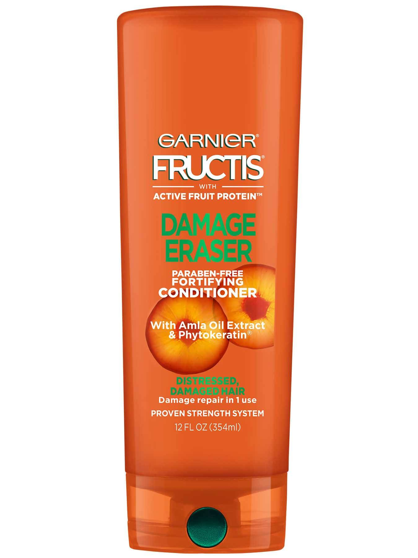 Garnier Fructis Damage Eraser Conditioner Front Of Bottle