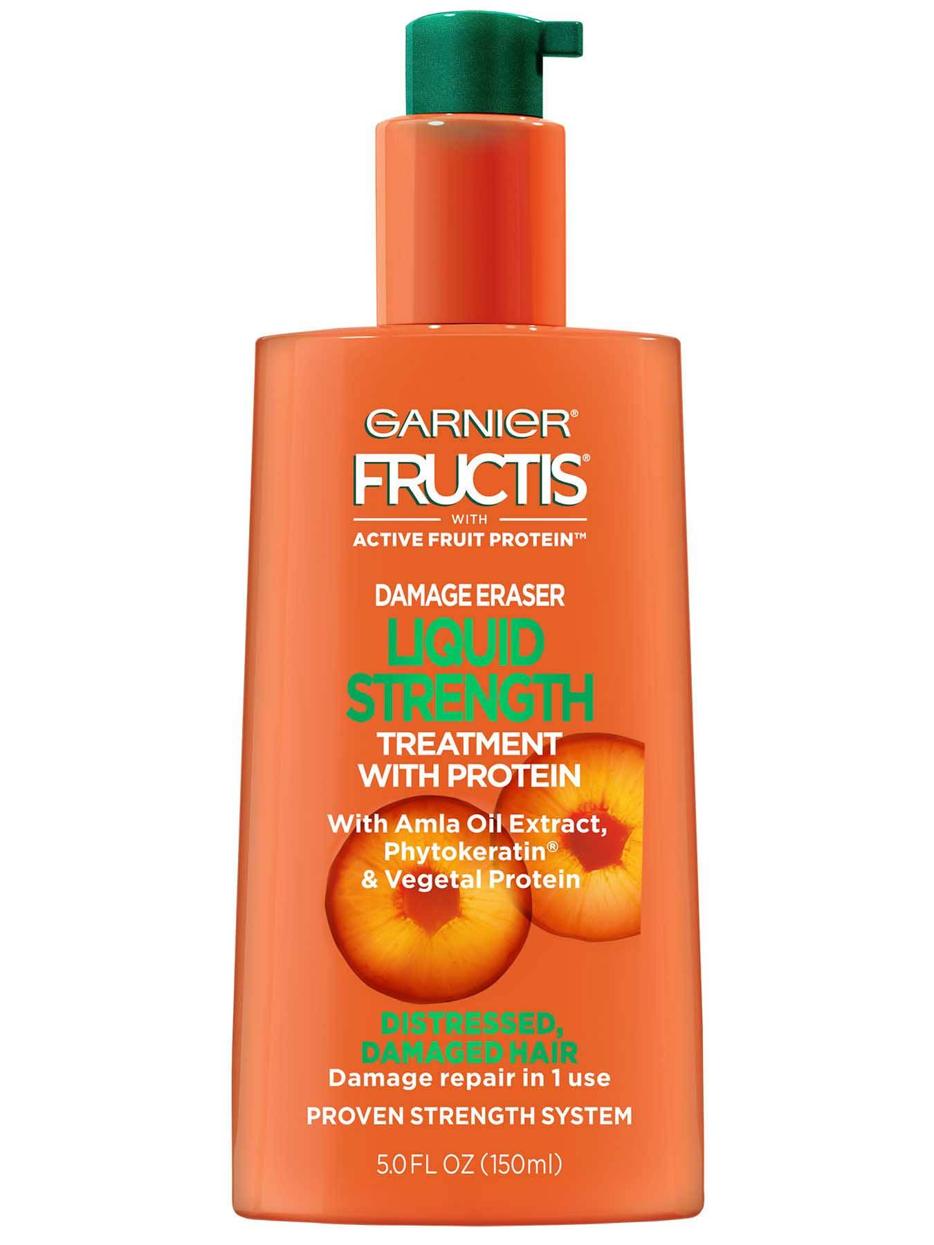 Garnier Fructis Damage Eraser Liquid Strength Treatment With Protein Front Of Bottle
