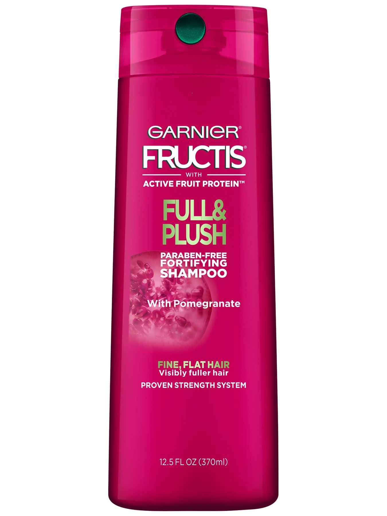 Garnier Fructis Full and Plush Shampoo Front Of Bottle