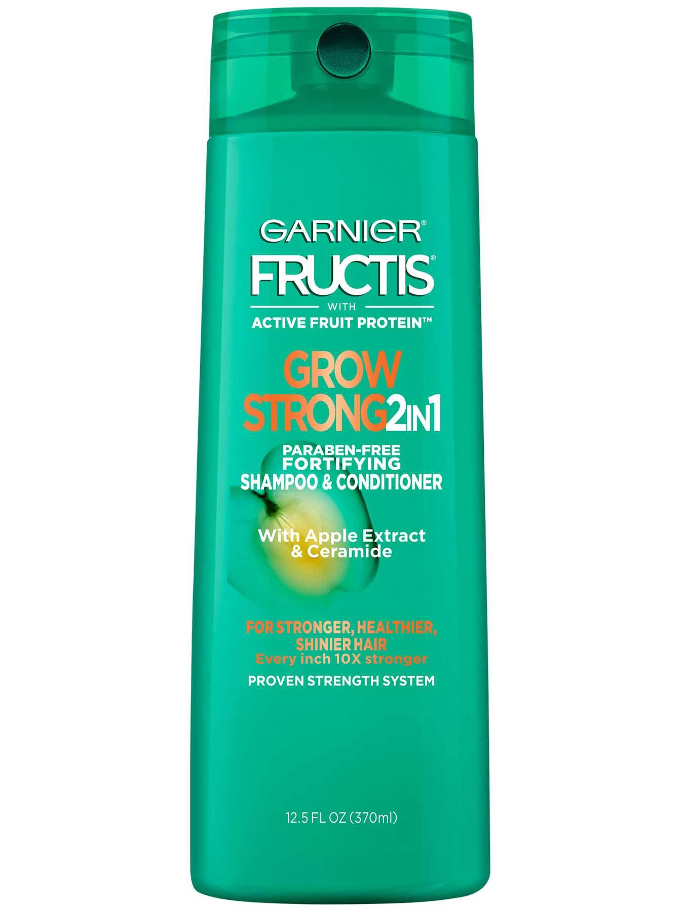 Front view of Grow Strong 2-in-1 Shampoo and Conditioner.