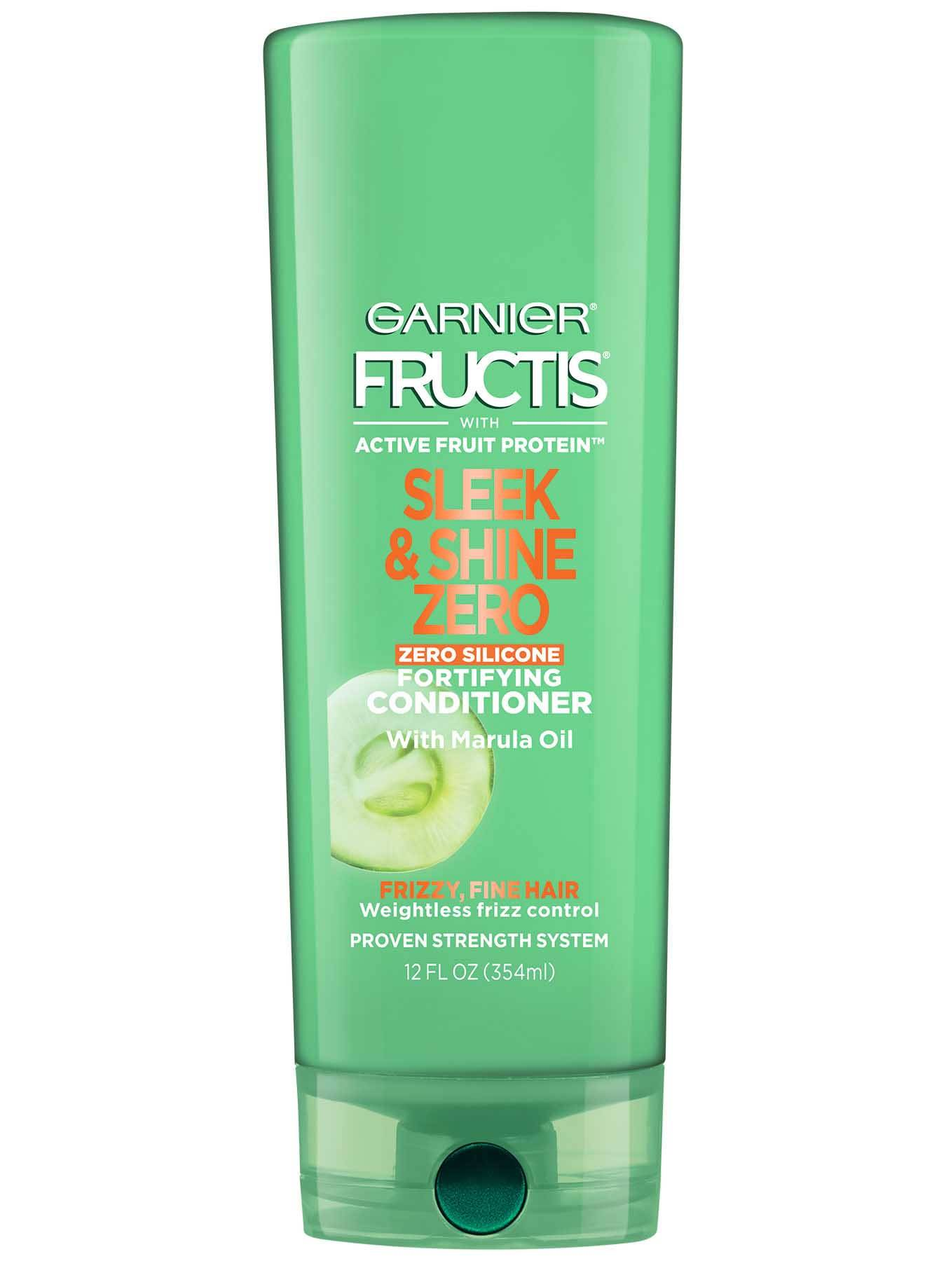 Garnier Fructis Sleek & Shine Zero Conditioner Front Of Bottle
