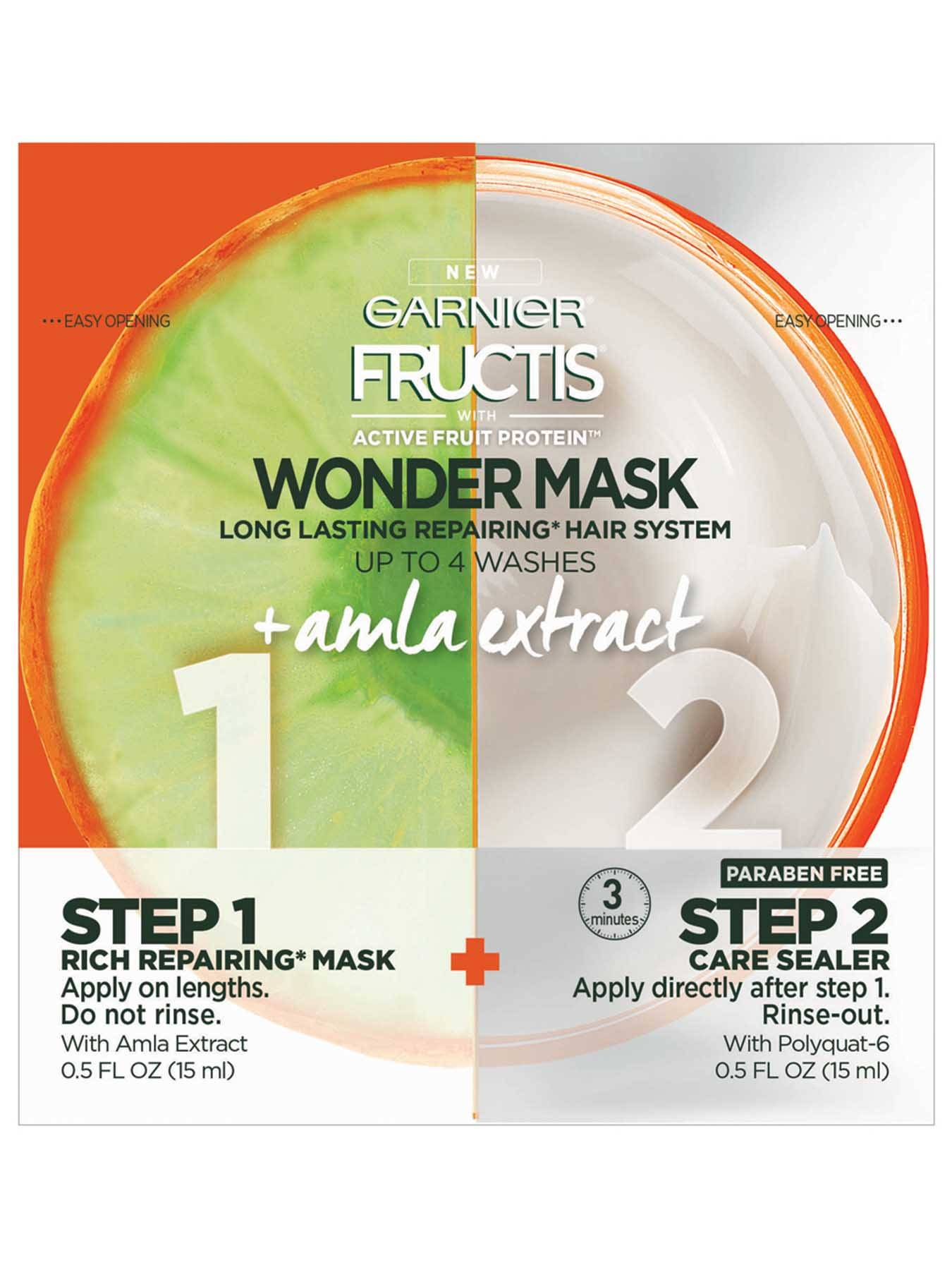 Front view of Wonder Mask With Active Fruit Protein Plus Alma Extract.