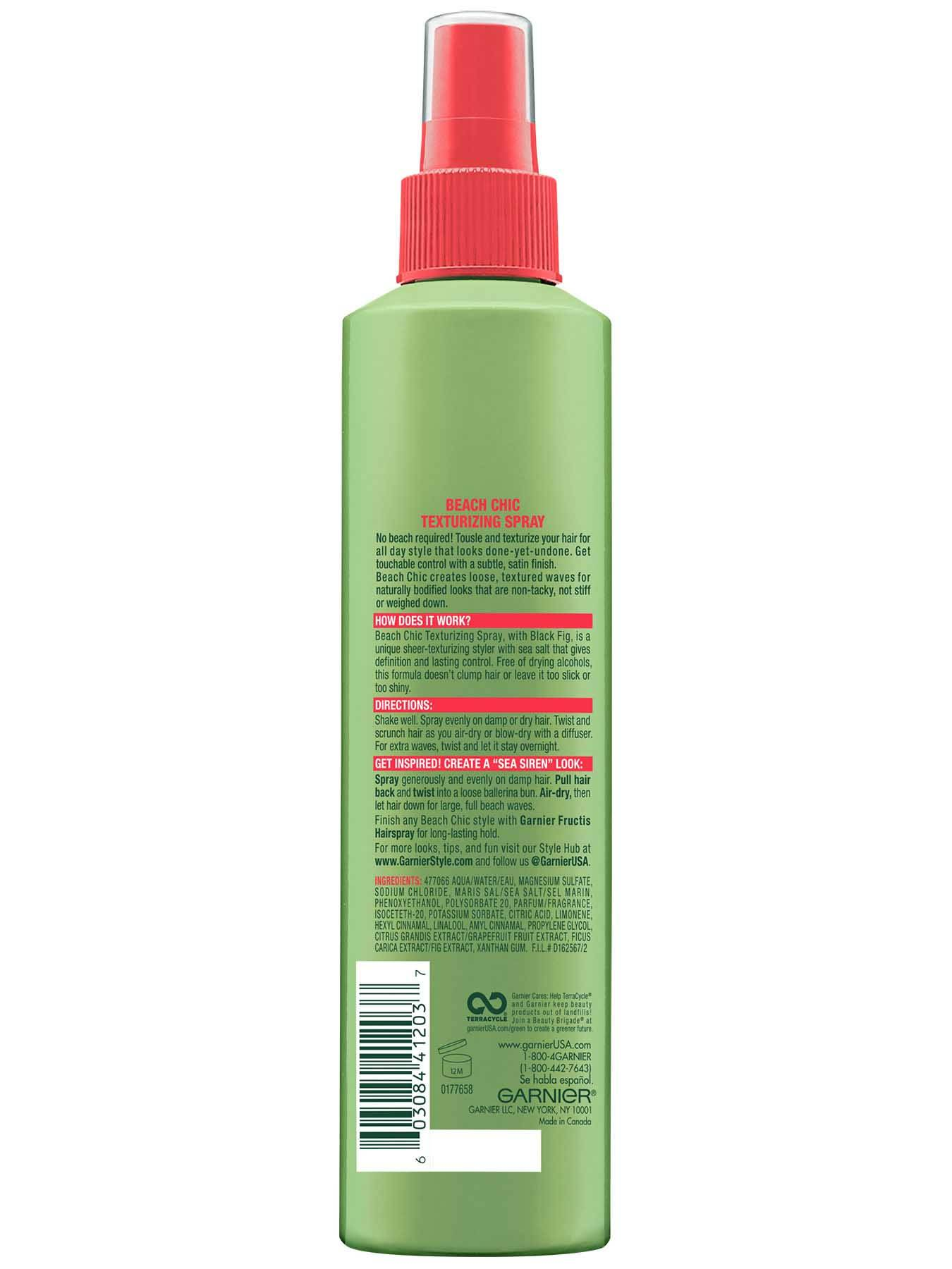 Garnier Fructis Style Beach Chic Texturizing Spray Back