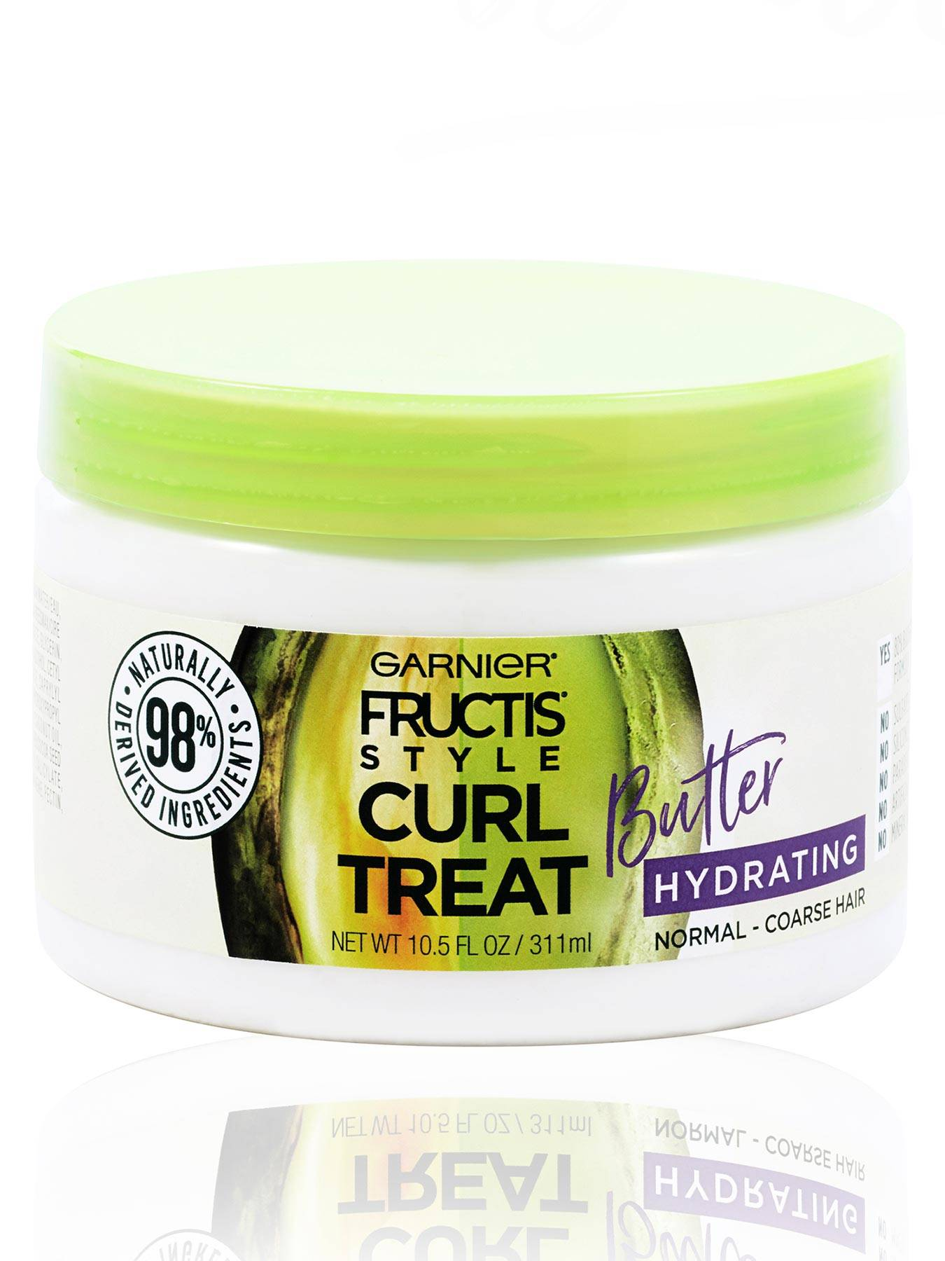 Front view of Curl Treat Butter Hydrating Leave-in Styler to Shape Curls.