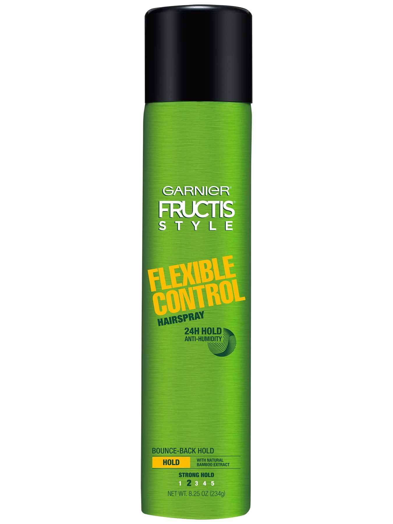 Garnier Fructis Style Flexible Control Hairspray Front Of Bottle