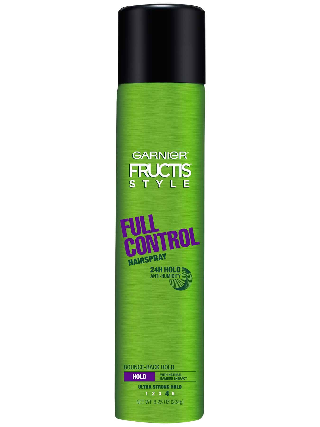 Garnier Fructis Style Full Control Hairspray Front Of Bottle