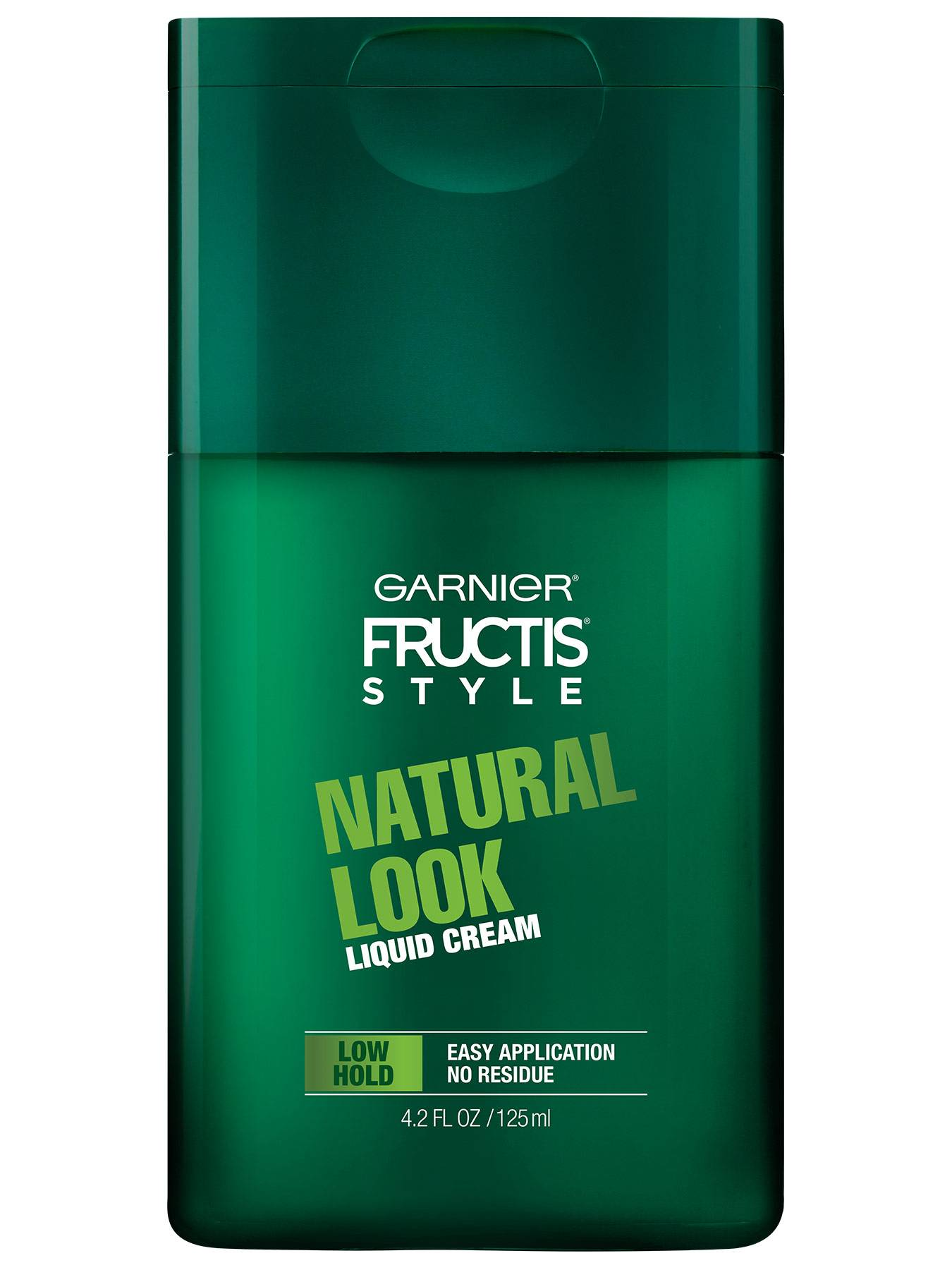 Front view of Natural Look Liquid Hair Cream for Men, No Drying Alcohol.