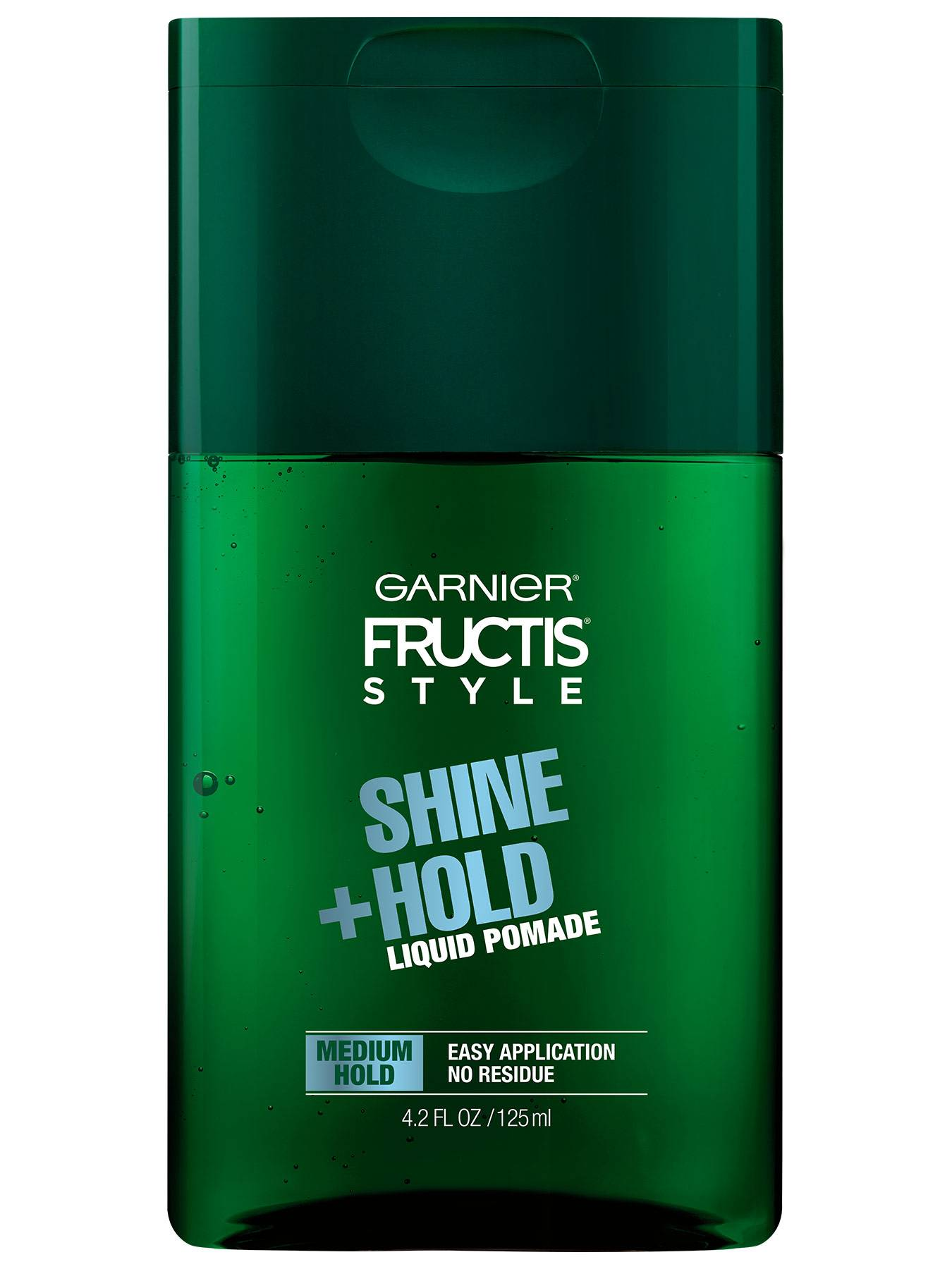 Front view of Shine and Hold Liquid Hair Pomade for Men, No Drying Alcohol.