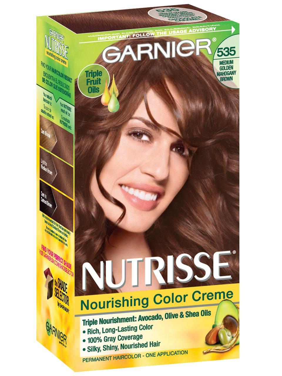 Nutrisse Nourishing Color Creme Golden Mahogany Brown 535 Garnier