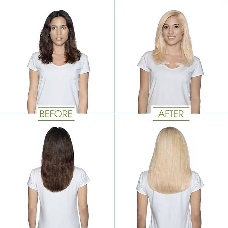 Garnier Hair Color - Ultra Light Platinum shade before and after