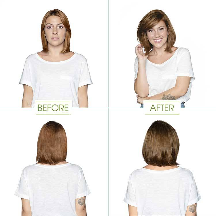 garnier hair color light golden brown shade before and after