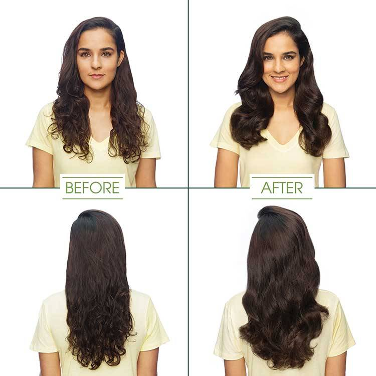 garnier hair color dark brown shade before and after