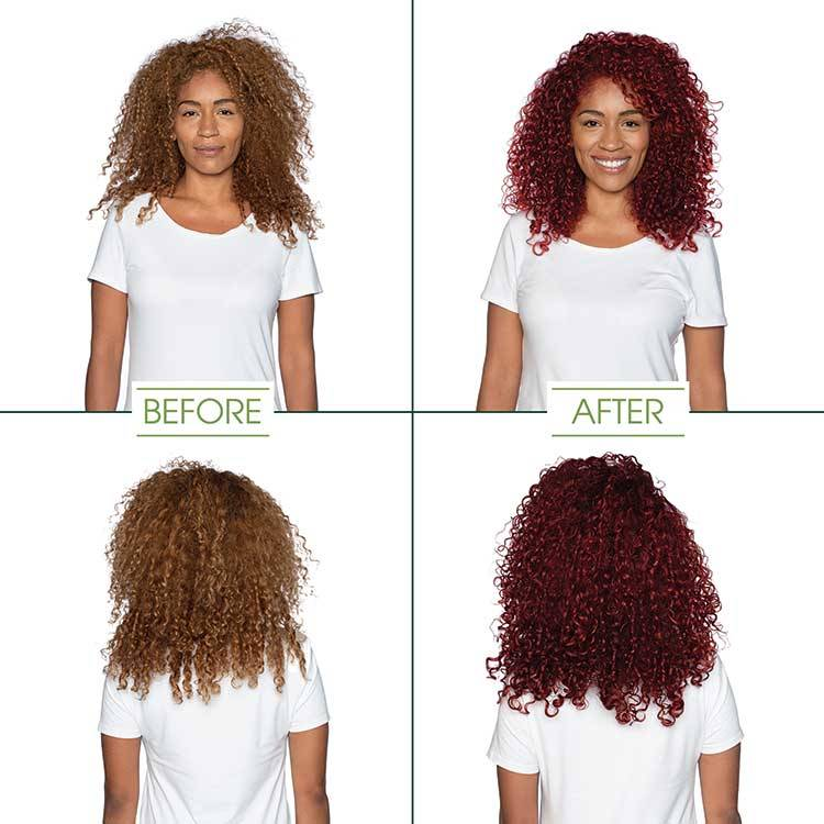 garnier hair color light intense auburn shade before and after
