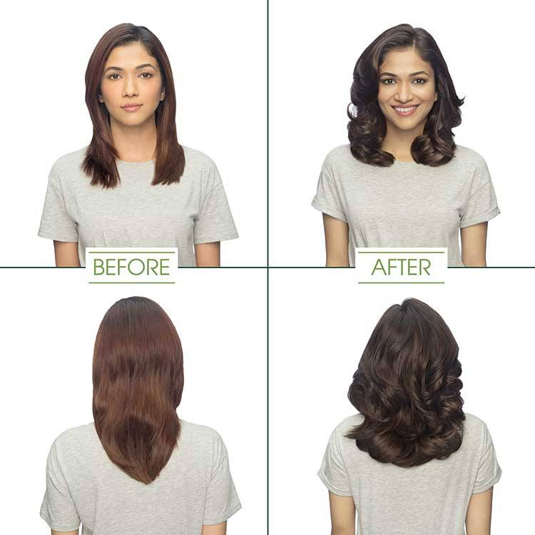 garnier hair color medium brown shade before and after