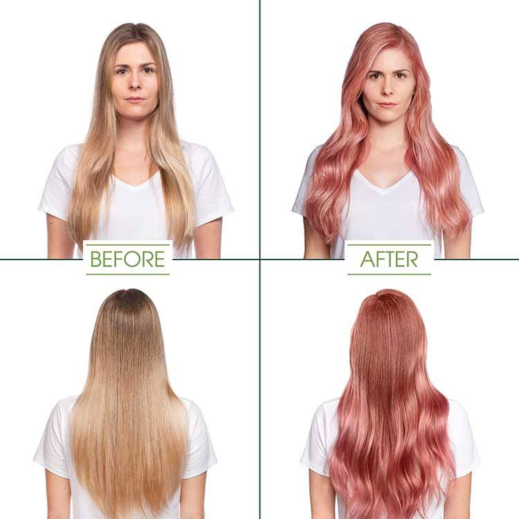 garnier hair color rose quartz shade before and after
