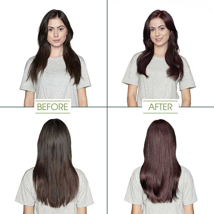 garnier hair color soft black shade before and after