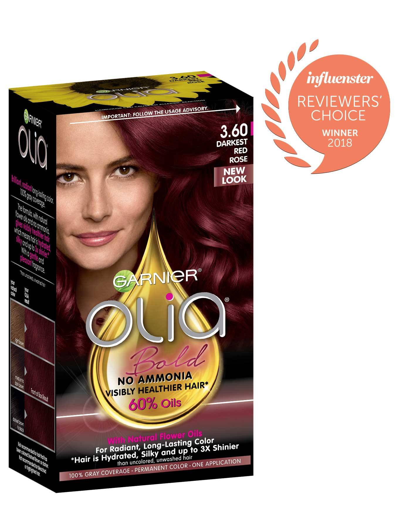 Garnier Olia Bold Packshot Award 3.60 Darkest Red Rose